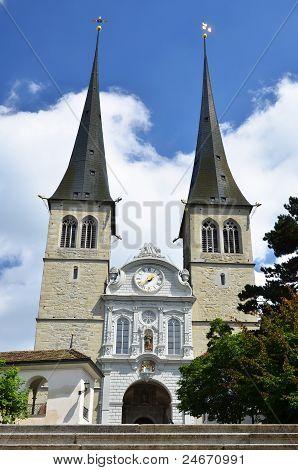 Hofkirche Of Luzern, Switzerland
