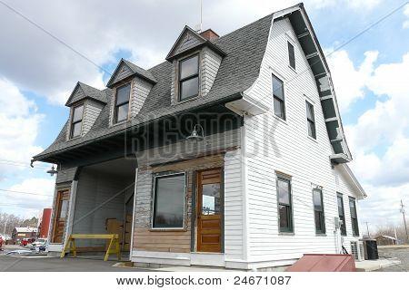 old railroad coal house