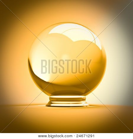 FINE 3D IMAGE OF CRYSTAL BALL