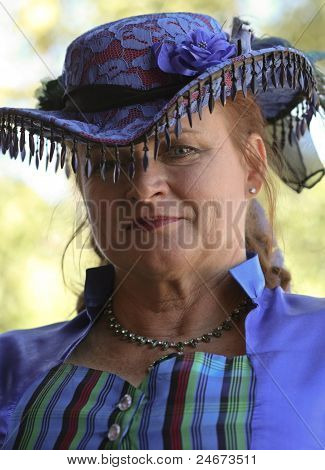 A Woman In Purple At Helldorado, Tombstone, Arizona
