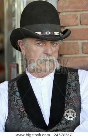 A Man Wearing a Derby at Helldorado, Tombstone, Arizona