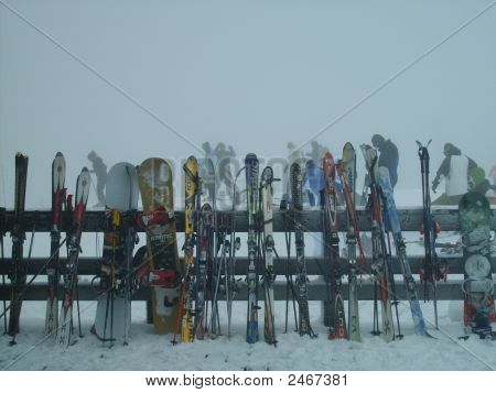 Skis & Snowboards At Snowshoe Wv