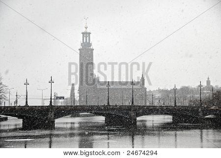 view of City Hall (Stadhuset). Stockholm, Sweden