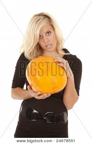 Black Dress Pumpkin Confused
