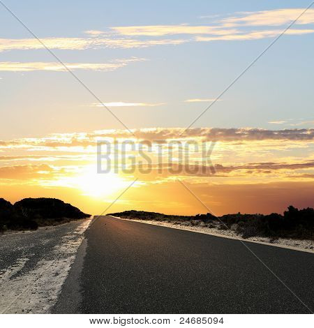 Asphalt road in countryside