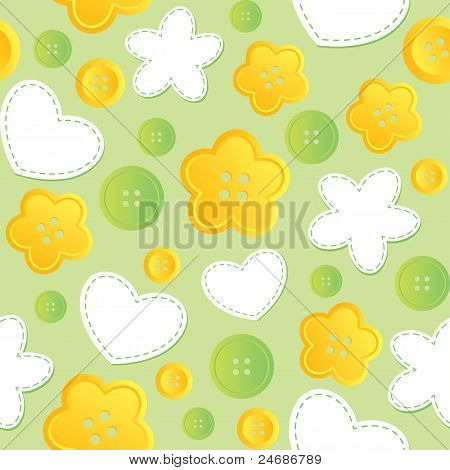 seamless pattern with sewing buttons