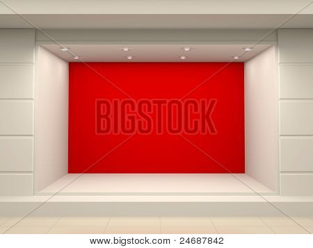 Empty Storefront Of Shop