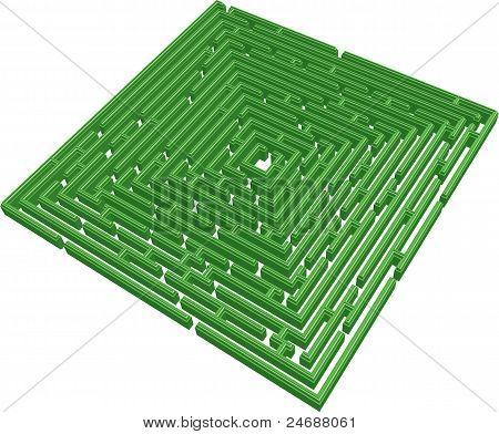 Labirinto 3D verde