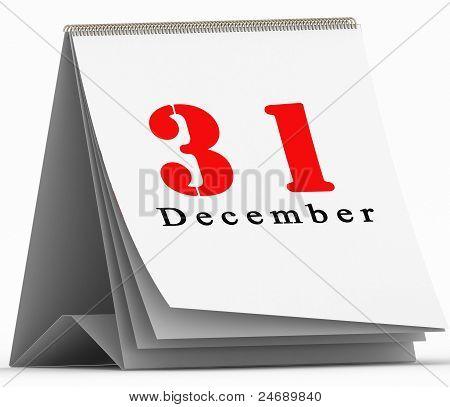 31 December on toggle calendar