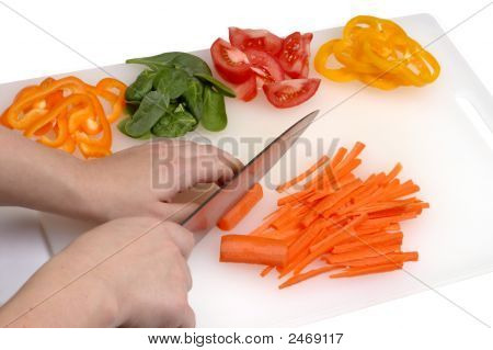 Chef'S Hands Cutting Vegetables