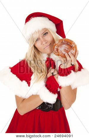 Mrs Santa Doughnut Confused