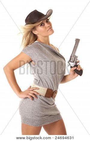 Woman Gun Confident