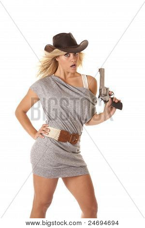 Woman Gun Hand Hip Shock