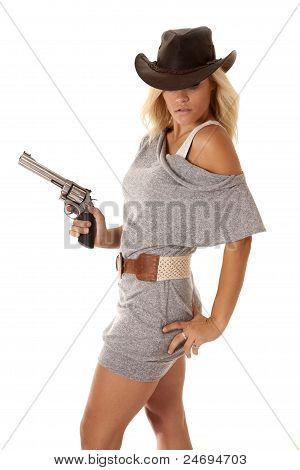 Woman Gun Hand Hip