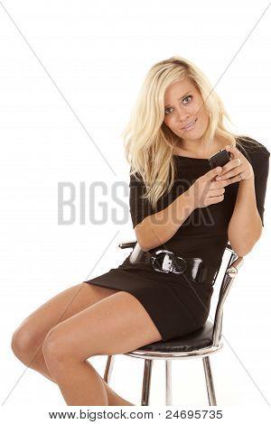 Woman Text Dress Sit