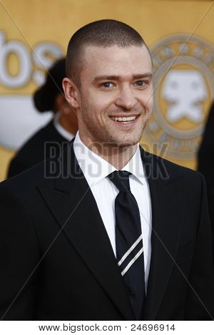 LOS ANGELES - JAN 30: Justin Timberlake arrives at The 17th Annual SAG Awards held at the Shrine Auditorium on January 30, 2011 in Los Angeles, California.