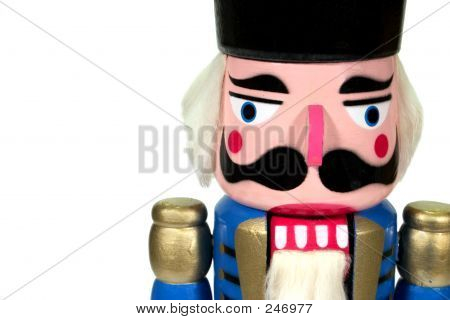 Wooden Nutcracker Close Up