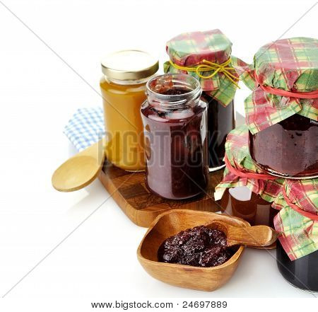 Jam In The Glass Jars