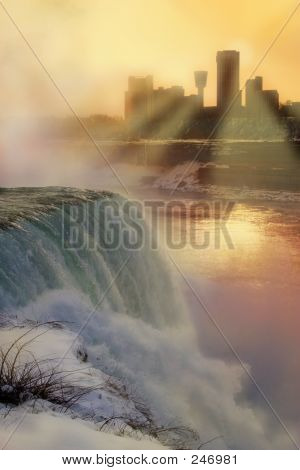 Winter Sunset - Niagara Falls