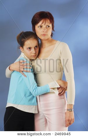 A Mother With Her Daughter