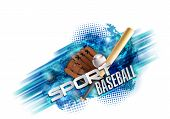 Baseball Poster With A Baseball. Baseball Games Advertising. Announcement Of A Sporting Event. Vecto poster