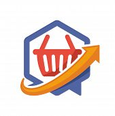 icon illustration with the concept of directional communication media, about shopping center information.