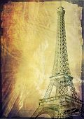 paris eiffel tower vintage post card
