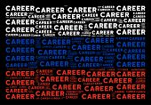 Russia Flag Pattern Designed Of Career Texts. Vector Career Text Objects Are United Into Conceptual  poster