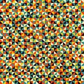 Seamless Pattern Of Geometric Shapes. Colorful Mosaic Backdrop. Geometric Vector Background. Colorfu poster