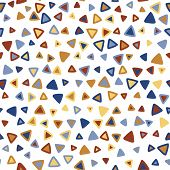 Triangle Colorful Seamless Pattern poster