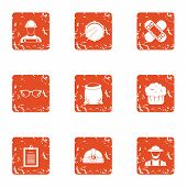 Accident Prevention Icons Set. Grunge Set Of 9 Accident Prevention Vector Icons For Web Isolated On  poster