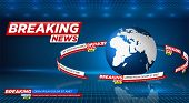 News Vector Background, Breaking News. Can Be Used For Blog Background Or Technological Or Business  poster