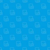 Not Available Database Pattern Vector Seamless Blue Repeat For Any Use poster