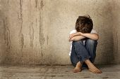 stock photo of sad boy  - Child abuse - JPG