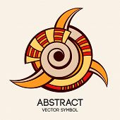 Abstract Geometric Symbol. poster