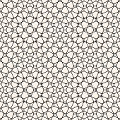 Vector Mesh Seamless Pattern. Subtle Abstract Geometric Ornament Texture With Thin Curved Lines, Del poster