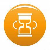 Cursor Loading Icon. Simple Illustration Of Cursor Loading Vector Icon For Any Design Orange poster