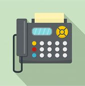 Fax Machine Icon. Flat Illustration Of Fax Machine Vector Icon For Web Design poster