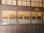 Ancient Mailboxes In The Post Office Building In Valencia, Spain poster