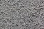 Beautiful Decorative Gray Plastered Wall. Rough Texture. Gray Plastered Handmade Rough Wallpaper. poster