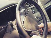 Car Steering Wheel, Start The Car Key, Hands On The Steering Wheel poster