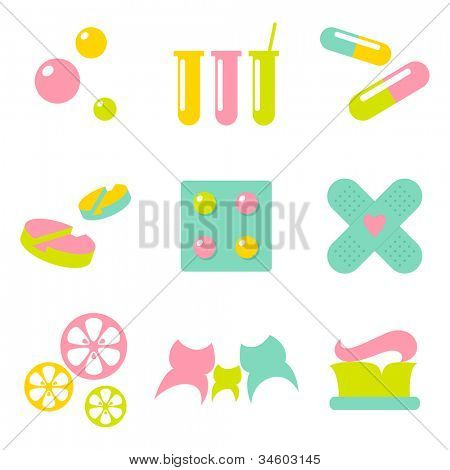 Medical / pharmacy / dentistry icons �¢�?�? logo design elements