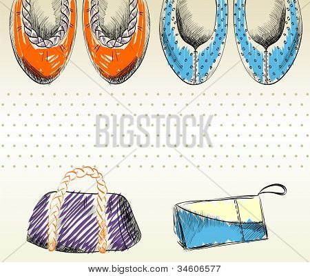 fashion  shoes and bags.