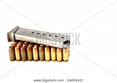 380 Caliber Handgun Ammo with Clip
