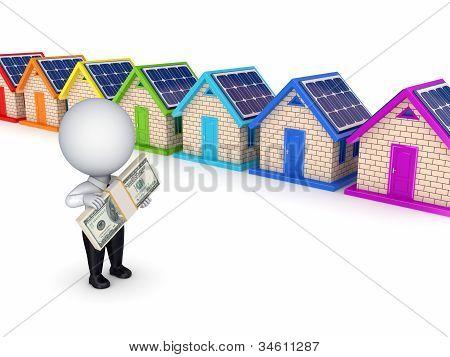 Solar battery concept.