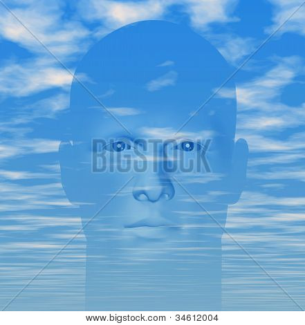 Man Cloudy Sky