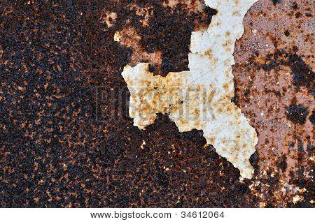 Peeling Paint Rusty Metal Background