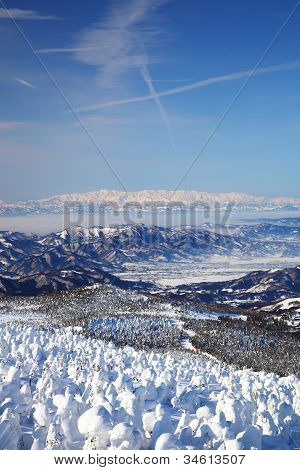 Soft Rime And Mt. Iide In Japan