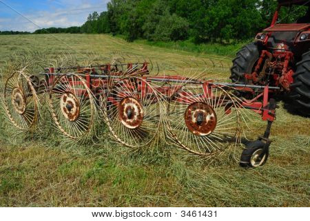 Tractor And Hay Rake