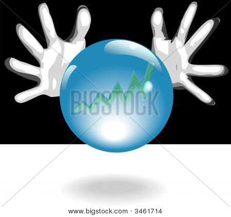 Profit Future Crystal Ball In Hands.Eps